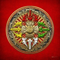 tibetan-double-dorje-mandala-double-vajra-on-red-leather-serge-averbukh.jpg